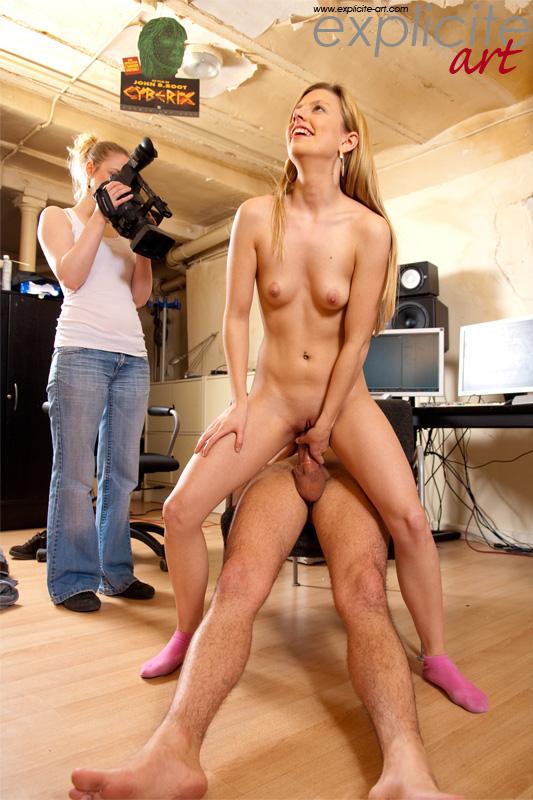 Съемок порно девушки